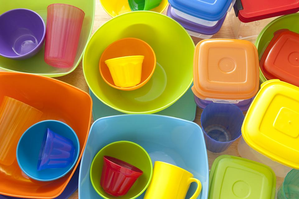 image of a selection of plastic food storage containers